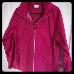Columbia Pink Windbreaker Jacket